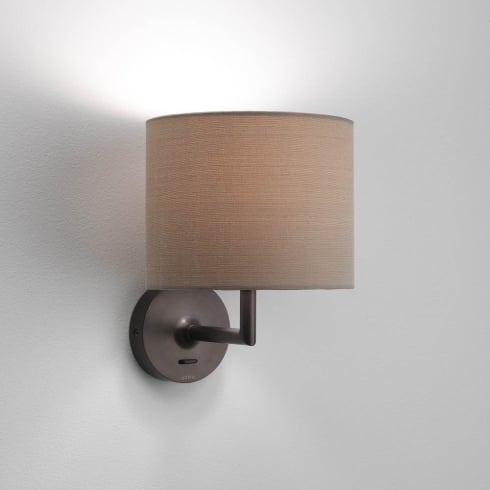 Appa Solo 0923 Switched Bronze Finish Surface Wall Light