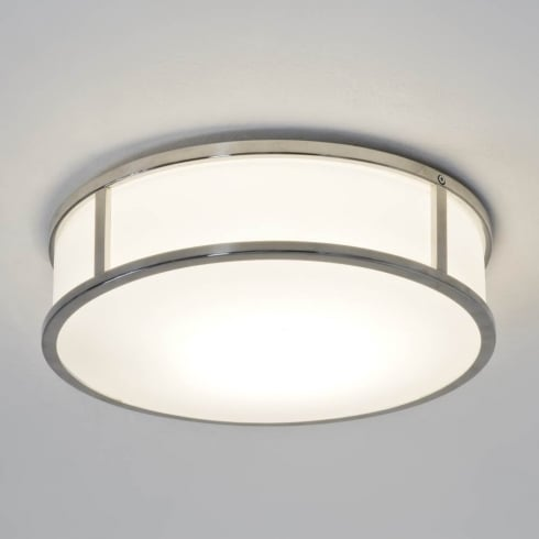 Astro Lighting Mashiko Round 300 7077 Unswitched Polish Chrome Finish Flushed Ceiling Light