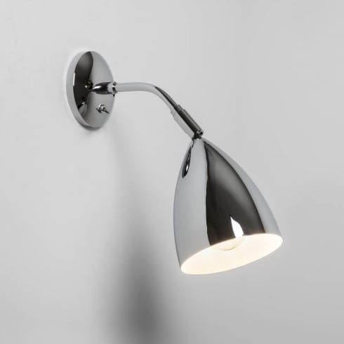 Astro Lighting Joel Wall 7156 Switched Polished Chrome Finish Surface Wall Light