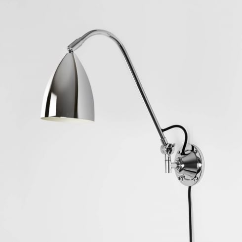 Astro Lighting Joel Grande Wall 7250 Switched Polished Chrome Finish Surface Wall Light
