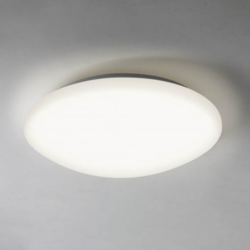 Astro Lighting Massa 350 7394 Unswitched Polished Chrome Finish Round Flush Ceiling Light with white diffuser