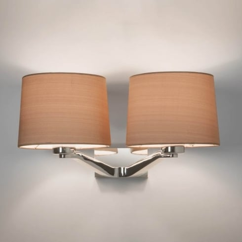 Astro Lighting Montclair Twin 7477 Polished Chrome Finish Surface Wall Light