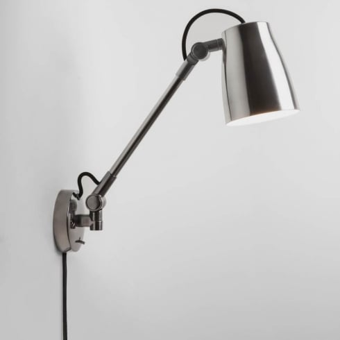 Astro Lighting Atelier Grande Wall 7507 Switched Polished Aluminium Finished Surface Wall Light