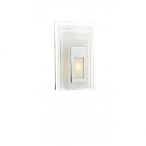 Dar Lighting Binary BIN072 Frosted Glass LED Wall Light