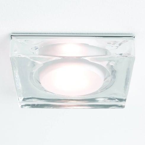 Astro Lighting Vancouver 5519 Glass Chrome Square GU10 Shower Downlight 230V IP65