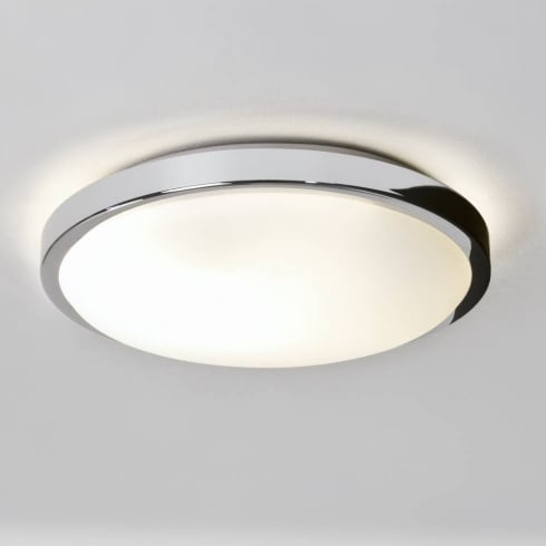 Astro Lighting Denia 0587 Flush Ceiling or Wall Light Polished Chrome with Opal Glass