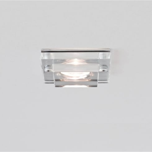 Astro Lighting Mint LED 5582 Square Chrome and Glass Integrated LED Shower Downlight Low Voltage IP65