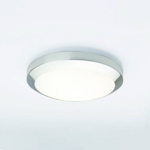 Astro Lighting Dakota Plus 300 0565 Low Energy Flush Ceiling or Wall Light in Chrome with Opal Glass