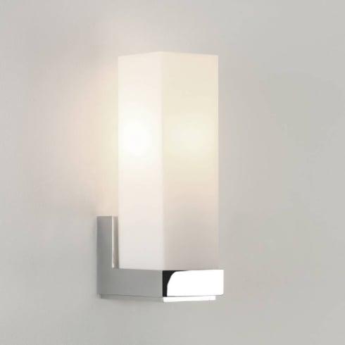 Astro Lighting Taketa 0775 Polished Chrome Opal Bathroom Surface Wall Light 40Watt