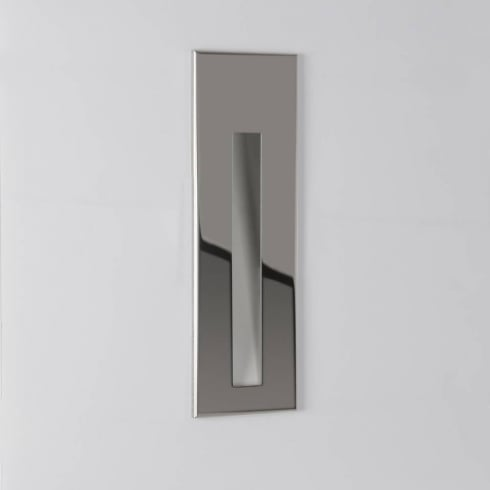 Astro Lighting Borgo 55 0971 Tall Polished Chrome Recessed LED Wall Light IP20