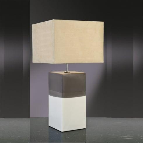 Elstead Lighting Alba Cream & Grey Table Lamp