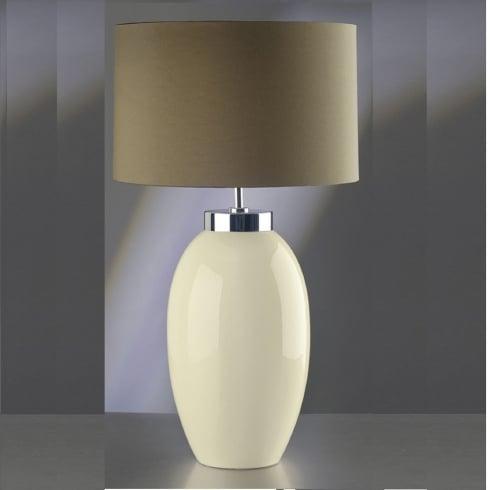 Elstead Lighting Victor Cream Table Lamp Small