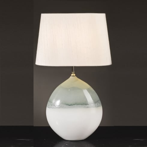 Elstead Lighting Serena Cream & Turquoise Table Lamp Large
