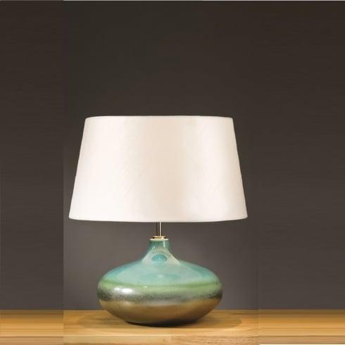 Elstead Lighting Laguna Turquoise & Silver Table Lamp Small