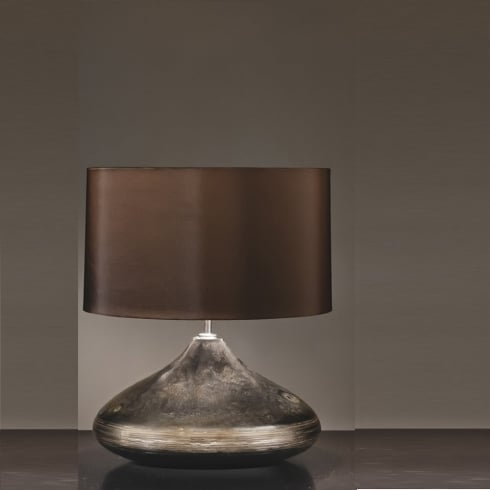 Elstead Lighting Columbus Silver & Turquoise Spinner Table Lamp