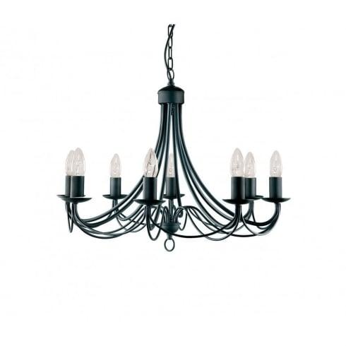 Searchlight electric maypole 6348 8bk black pendant