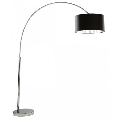 Searchlight Electric Arcs 1013CC Chrome With Fabric Shade Floor Lamp