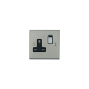 Hartland 73SS1BC-B Bright Chrome 1 gang 13A Double Pole Switched Socket