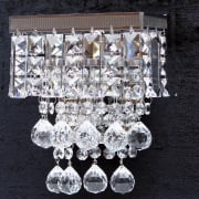 Enigma 198/1 Crystal Square, Lozenge, Ball & Button Wall Bracket