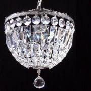 Baguette 172/10/1 Chrome Crystal Trimmings Ceiling Light