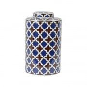 Tile Print 337948 Homeware Lidded Ceramic Jar Large