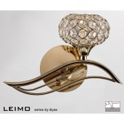 Leimo IL-IL30961/R French Gold Single Light Switched Wall Light Right Hand