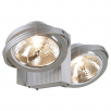 Intalite UK 149142 Tec 2 QRB Silver Grey Wall & Ceiling Light