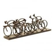 Cyclists Sculpture 137104 Rustic Antique metal bronze finish