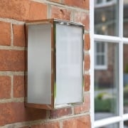 Homefield Frosted 7083 Nickel Opal Glass Outdoor Surface Wall Light IP44