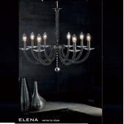 Elena IL-IL30478 Black Chrome Crystal Eight Light Pendant Ceiling Fitting