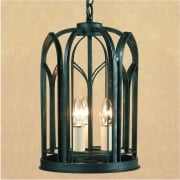 VILLA SMRRV00001/ABLK Antique Black Lantern