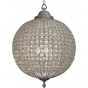 Round 36046 Crystal Effect Pewter Chandelier Large