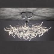 Kenzo IL-IL30880 Polished Chrome Crystal Twenty Four Light Ceiling Light