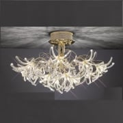 Kenzo IL-IL30890 Gold Crystal Twenty Four Light Ceiling Light