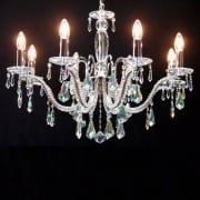 fantastic lighting chandeliers. mozart 605/8 chrome with aurora borealis peardrop trimmings chandelier. fantastic lighting chandeliers l