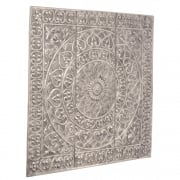 Souk 336002 Embossed Antique Silver Aluminium Wall Art Decoration