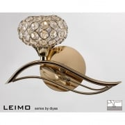 Leimo IL-IL30961/L French Gold Single Light Switched Wall Light Left Hand