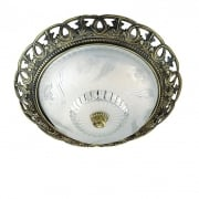 Flush 7045-13 Antique Brass Flush Ceiling Light