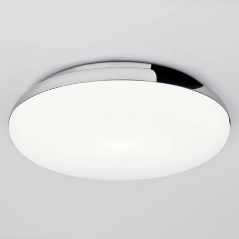 Astro Lighting Altea 0586 Flush Ceiling Light Chrome with Opal Glass IP44