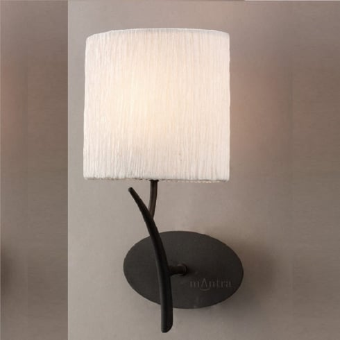 Mantra Spain Eve M1154 Antracite Single Lamp Wall Light with White Shade