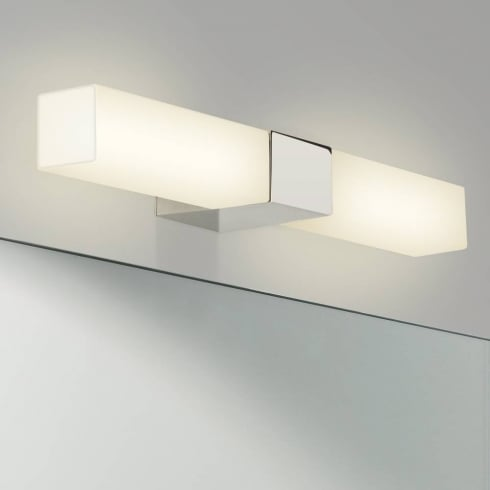 Astro Lighting Padova Square 7028 Square Chrome Opal Glass Bathroom Wall Light