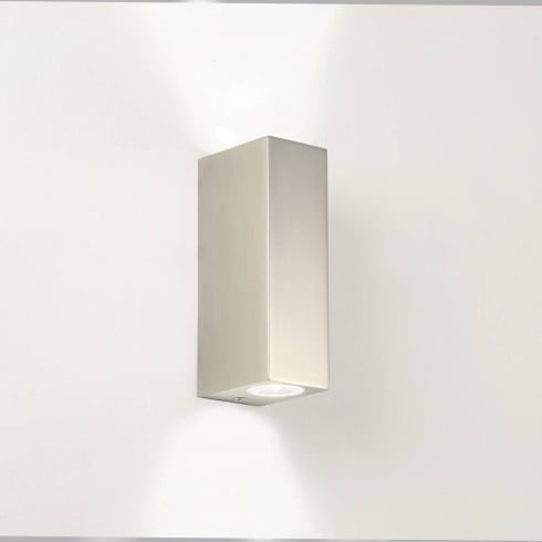 Bloc 0824 Matt Nickel LED Bathroom Up and Down Surface Wall Light IP44