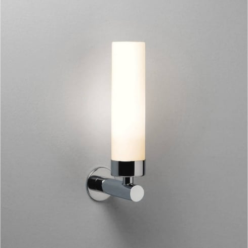 Astro Lighting Tube LED 0943 Bathroom Surface Wall Light Polished Chrome Opal Glass