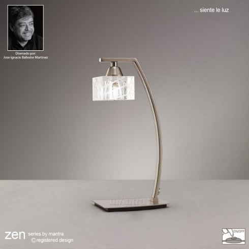 Mantra Zen M1447SN Satin Nickel Single Light Table Lamp