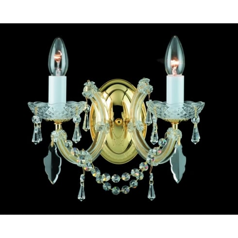 Impex Russell MARIE THERESA CP00150/02/WB/G Gold Wall Light
