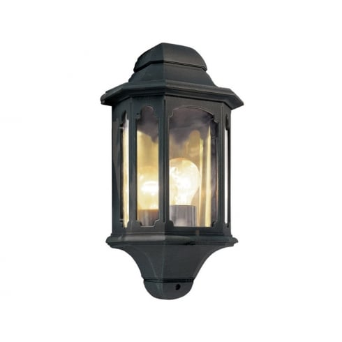 Elstead Lighting Chapel CP7 BLACK  Outdoor Half Lantern