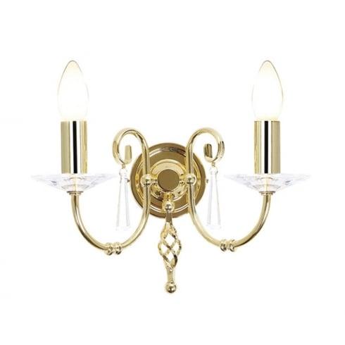 Elstead Aegean Twin Wall Light Polished Brass