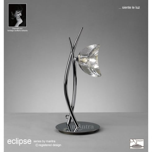 Mantra Spain Eclipse M1459 Polished Chrome Single Light Table Lamp