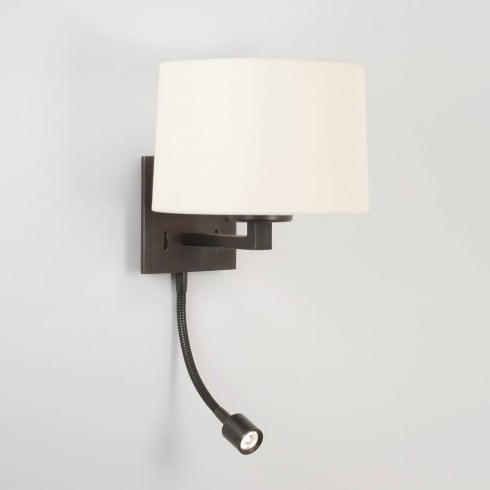 Astro Lighting Azumi 0788 Bronze LED Classic Surface Wall Light with Adjustable Spot Light