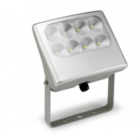 LedsC4 Lighting Shull 05-9652-34-M2 Grey Aluminium & Polycarbonate  Projector Wall Light